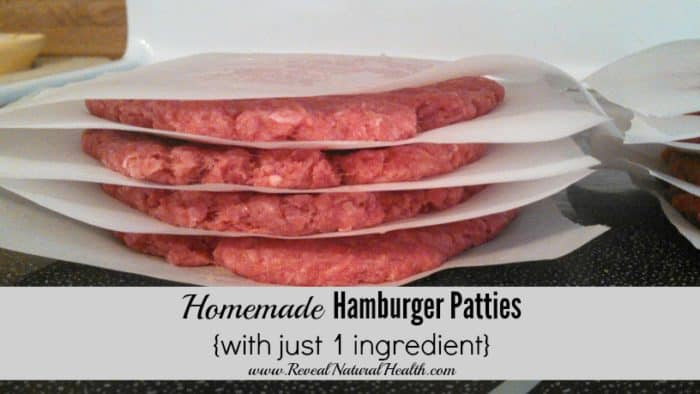 Homemade Hamburger Patties with just 1 ingredient - because meat really should be the only ingredient. Of course you could also add your own special seasonings as you make them. No fillers or added preservatives needed.