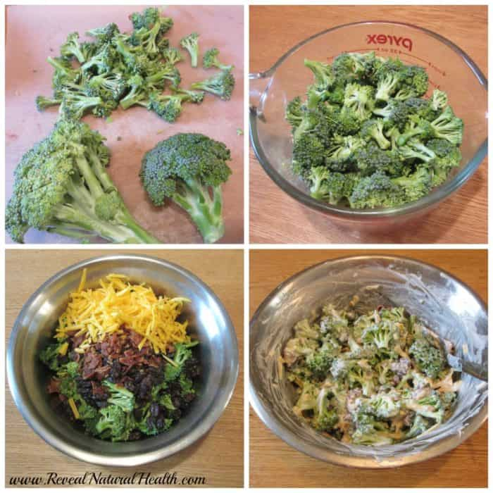 This delicious broccoli salad recipe is easy to make and uses fresh ingredients and Greek yogurt. It's a great way to enjoy fresh broccoli from the garden.