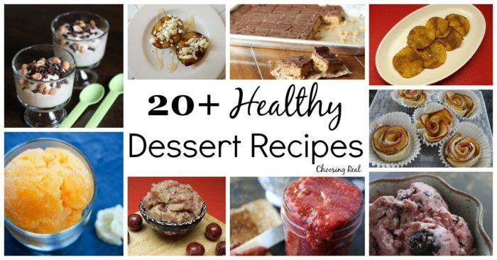 These healthy dessert recipes are made with real ingredients, have little or no added sugar, and most of them are gluten free.