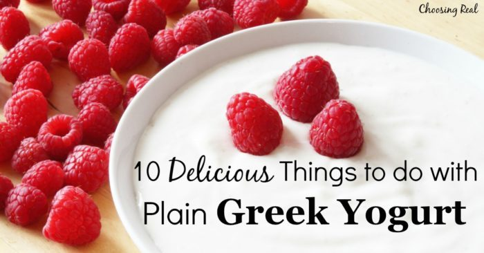 Plain Greek yogurt is a staple in my home for many recipes. It tastes similar to sour cream, but has the added benefit of live cultures that aid digestion.