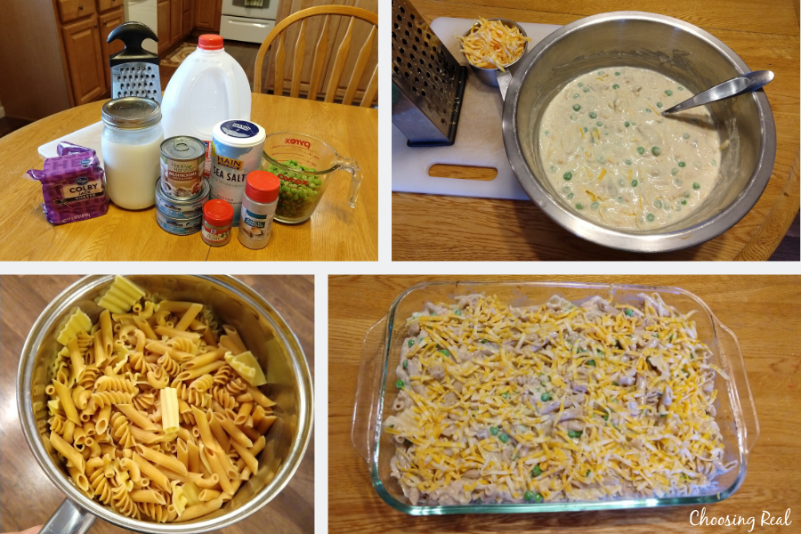 Healthy tuna noodle casserole recipe using plain yogurt