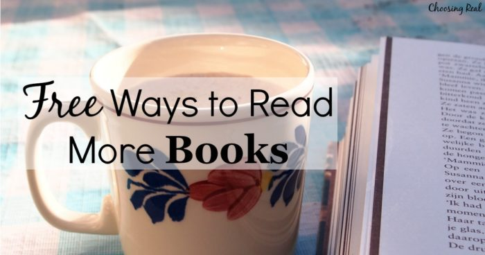I have 5 free ways you can read more books without buying more books.
