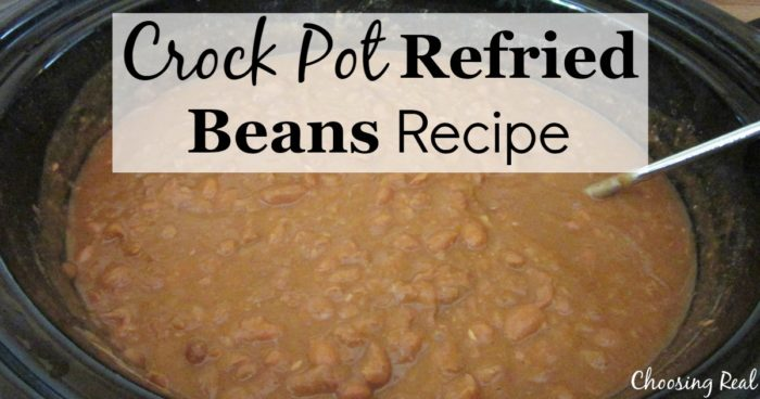 Crock pot refried beans are so easy to make and freeze that you won't need to use store-bought cans with questionable ingredients.