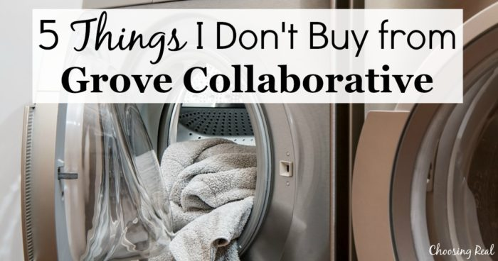 I like Grove for their convenience, healthier products, and commitment to the environment. But there are several items I don't buy from Grove Collaborative.