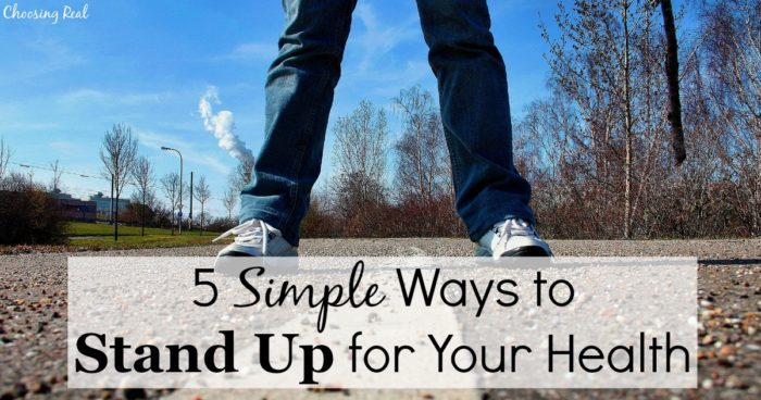 I bet most of us could use a reminder to simply stand up for your health.As a blogger and someone who works an office job, I find I spend much of the day sitting down.