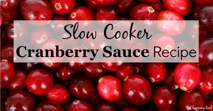 This homemade slow cooker cranberry sauce recipe balances sweetness with tartness making it the perfect complement to your holiday dinner.