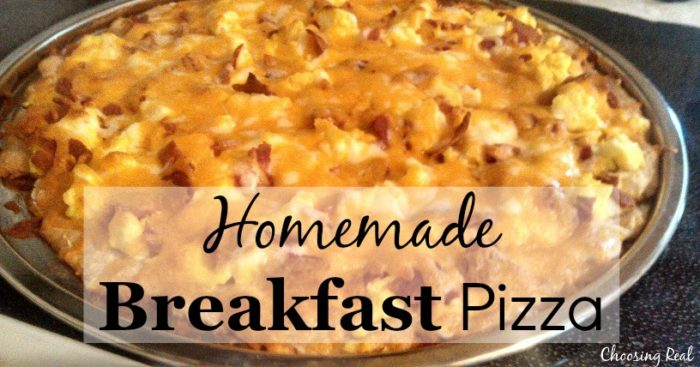 homemade breakfast pizza recipe