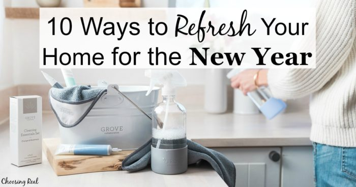 Try out these 10 small ways you can refresh your home for the new year.