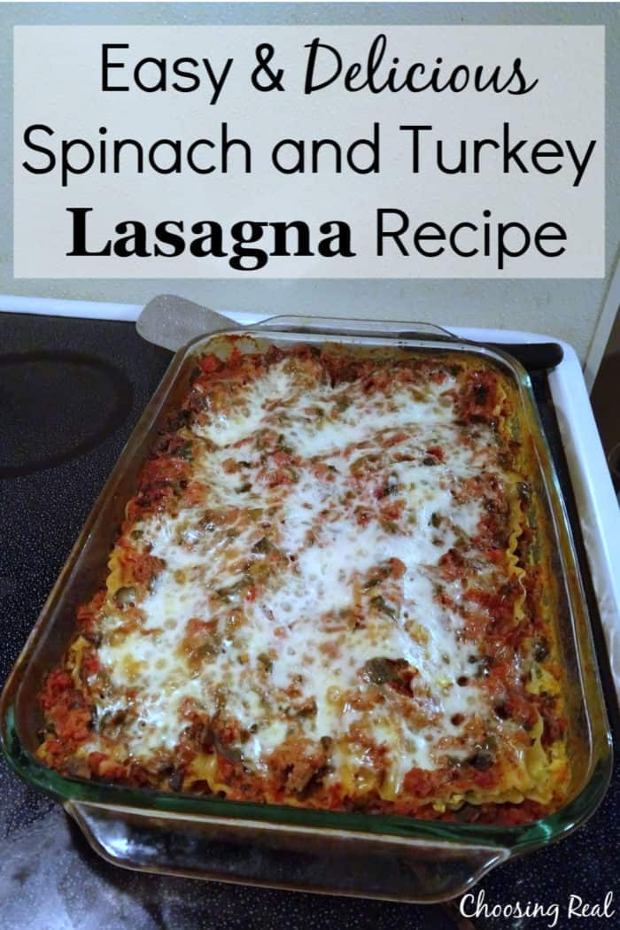 This lasagna recipe is flavorful and packs in healthy spinach for a delicious family meal.