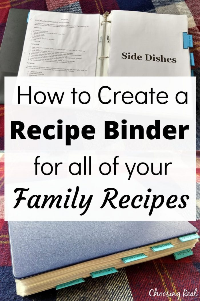 family recipe binder