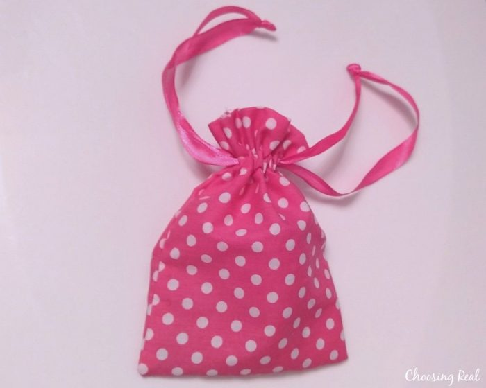 blossom cup in bag