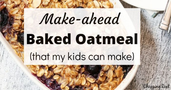 make-ahead baked oatmeal