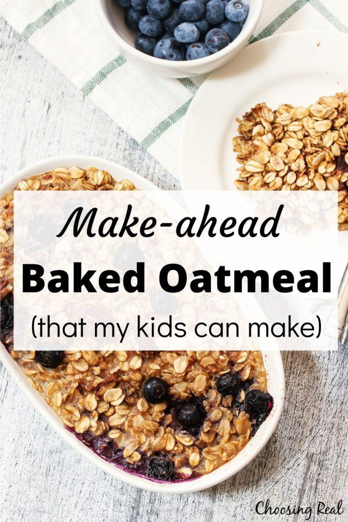 make-ahead baked oatmeal